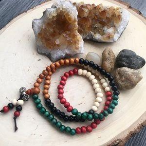 🆕 108 Wood Prayer Beads Meditation Mala